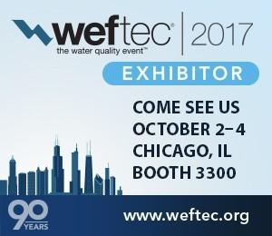 WEFTEC 2017 booth 3300