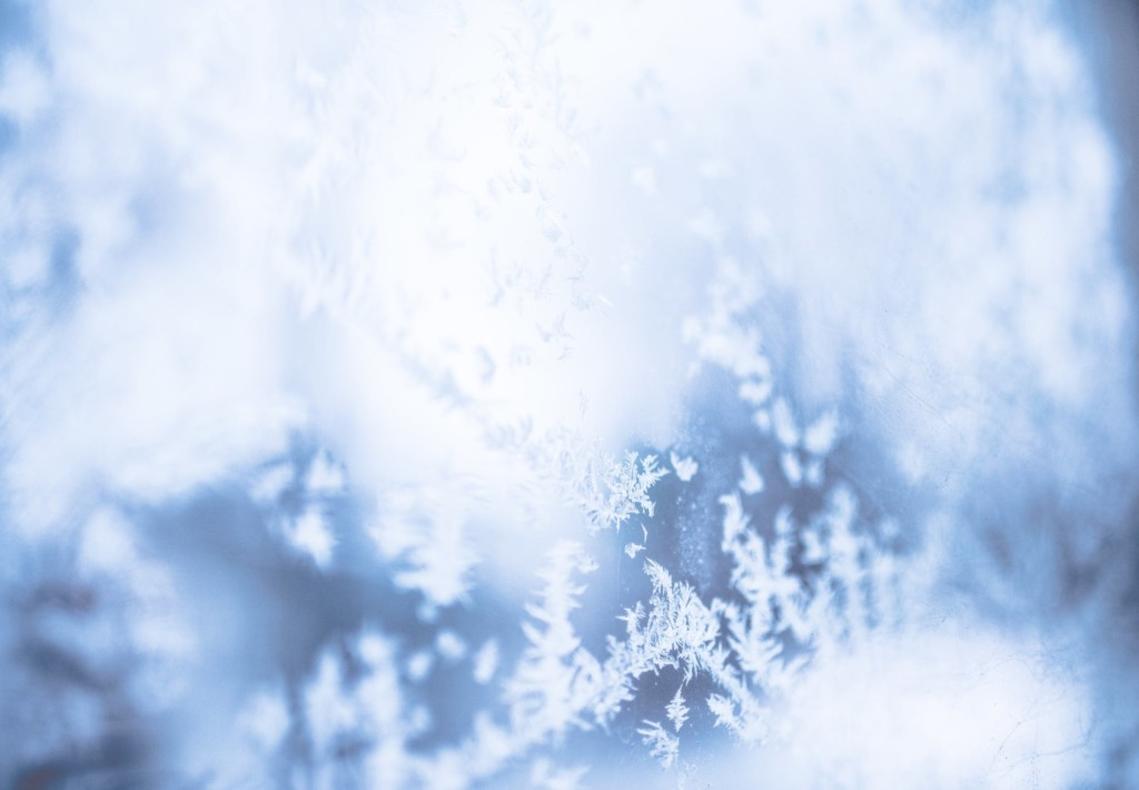 ice on glass