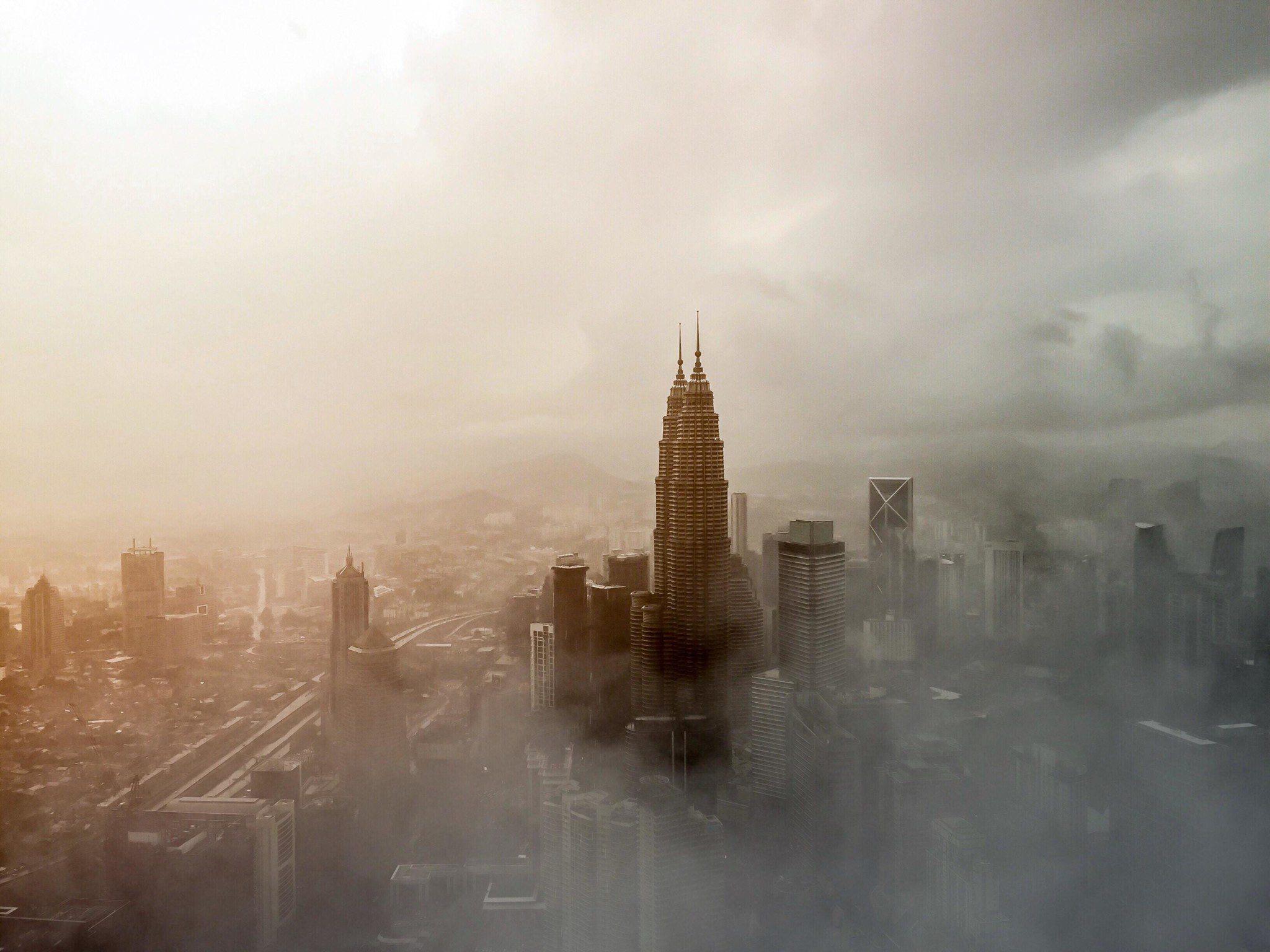 smoke in city