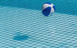 swimming pool and beach ball chlorine