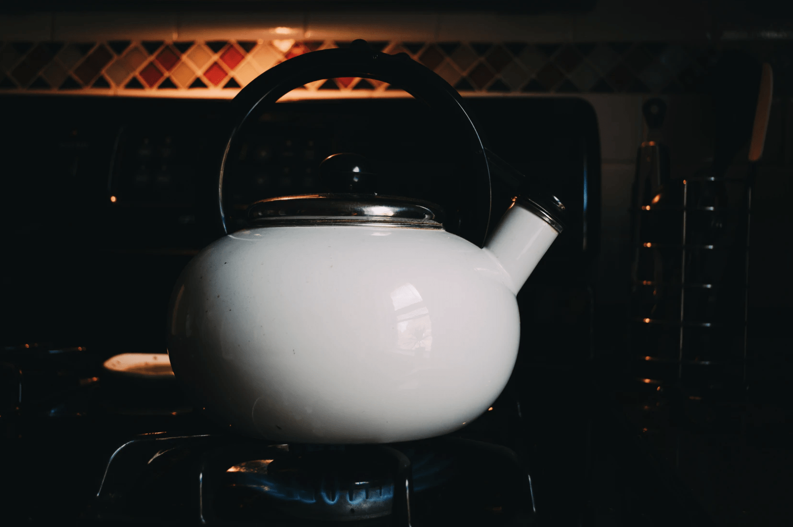 water in kettle pot