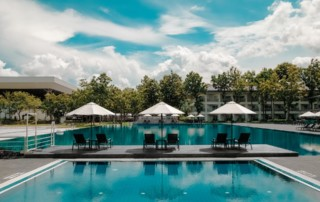 outdoor residential pool clean fancy