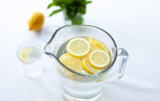 Drinking Water in Pitcher with Lemons
