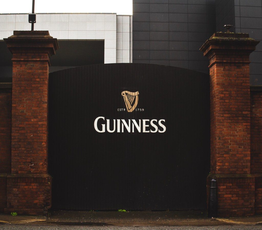 guinness symbol beer factory building