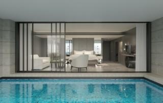 indoor clean pool water